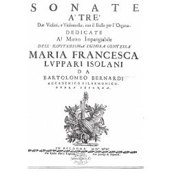 Bartolomeo Bernardi - Sonate a due violini e b.c. Op. 2
